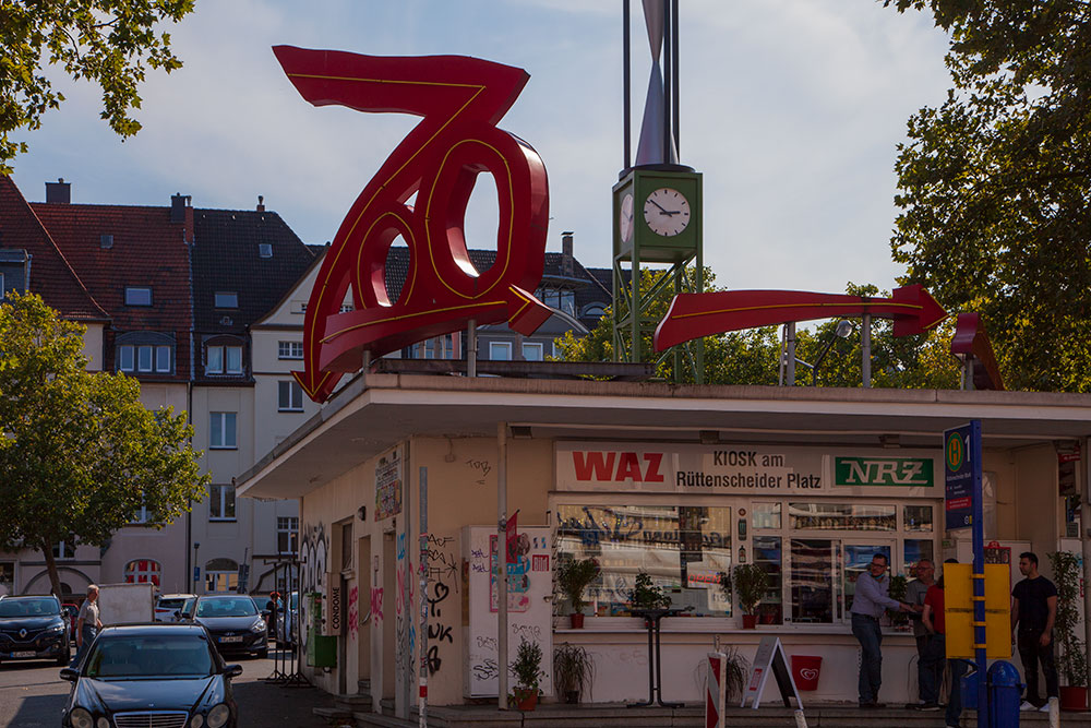 besondere-fotospots-in-essen Leuchtender Zoo am Rüttenscheider Markt © offguide