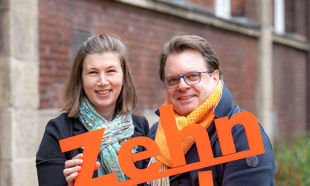 Melanie Kemner und Ralph Kindel, vom Projektteam »Zehn nach Zehn« © Jochen Tack