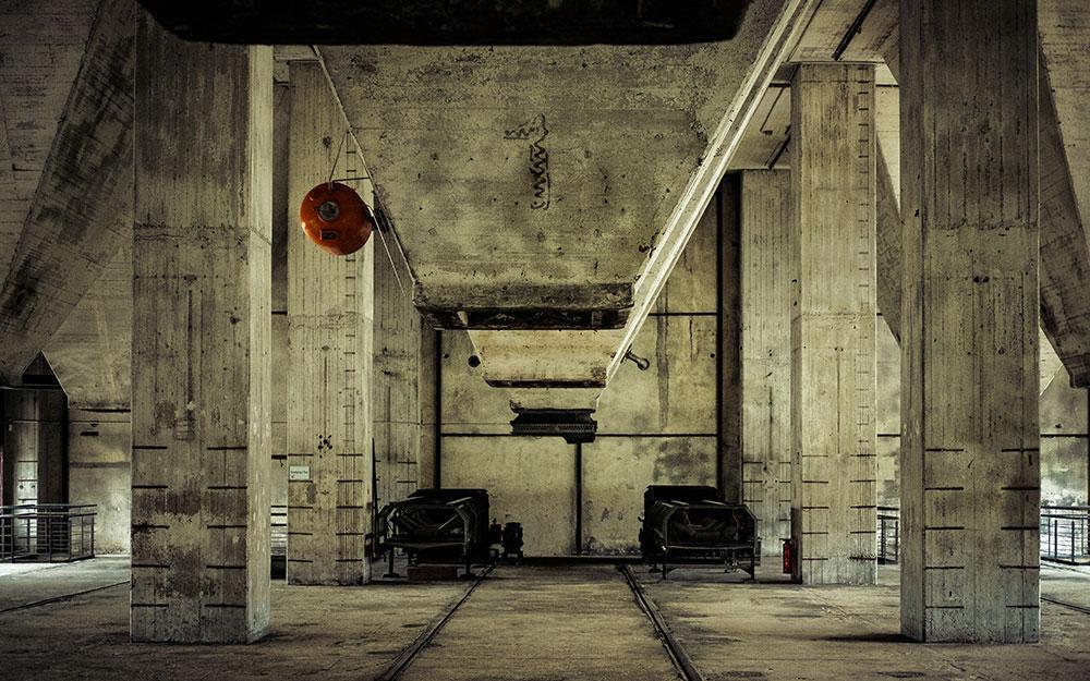 Mischanlage der Kokerei Zollverein in spektakulärer Industriekulisse