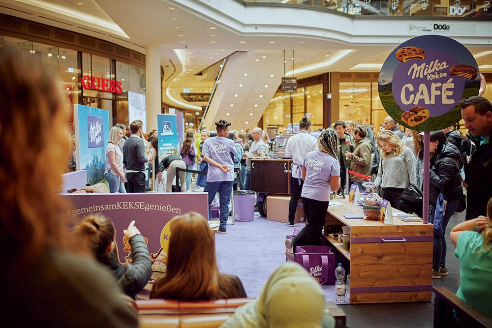 Milka Kekse Café, Einkaufszentrum Limbecker Platz, Besucher*innen