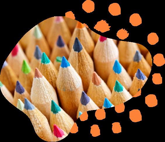 Colored pencils for enrichment program