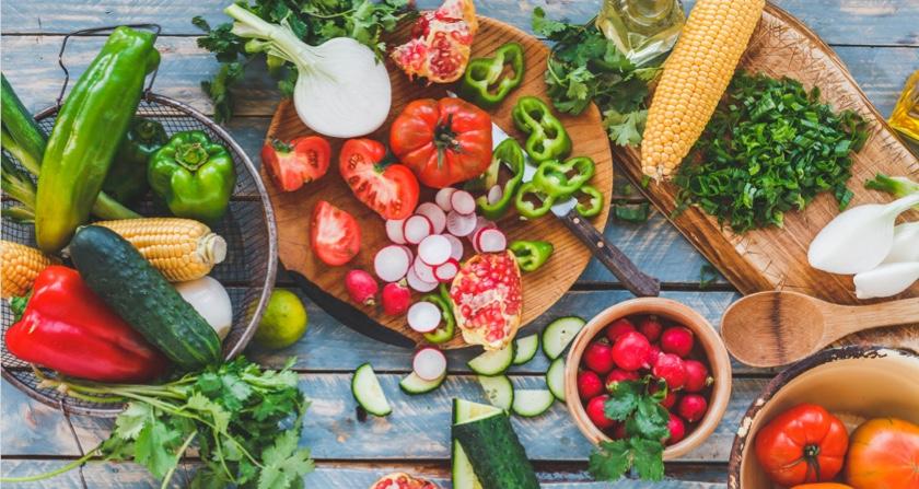 Fresh fun summer meal ingredients
