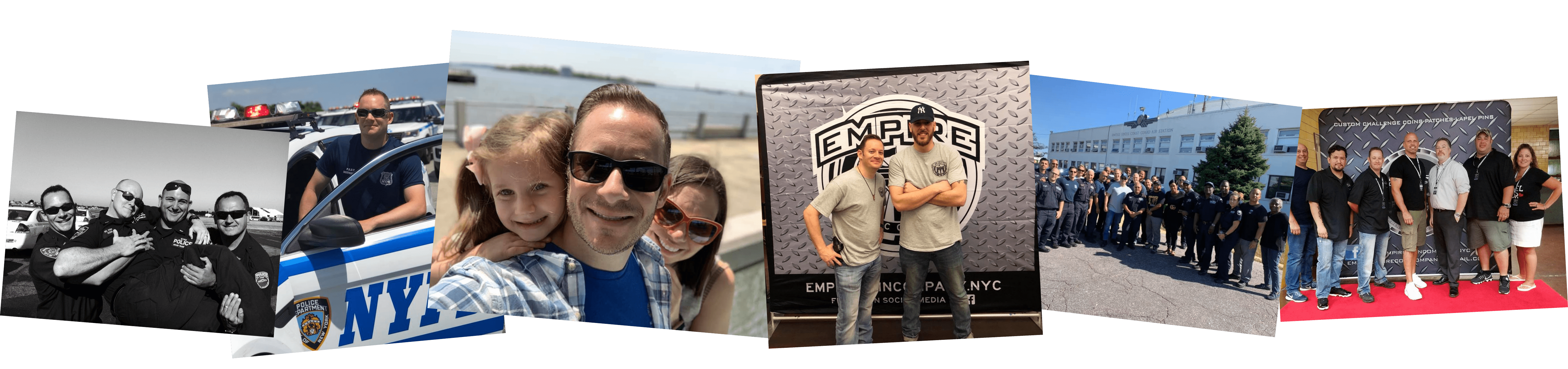group of pictures of Empire Coins founder and team