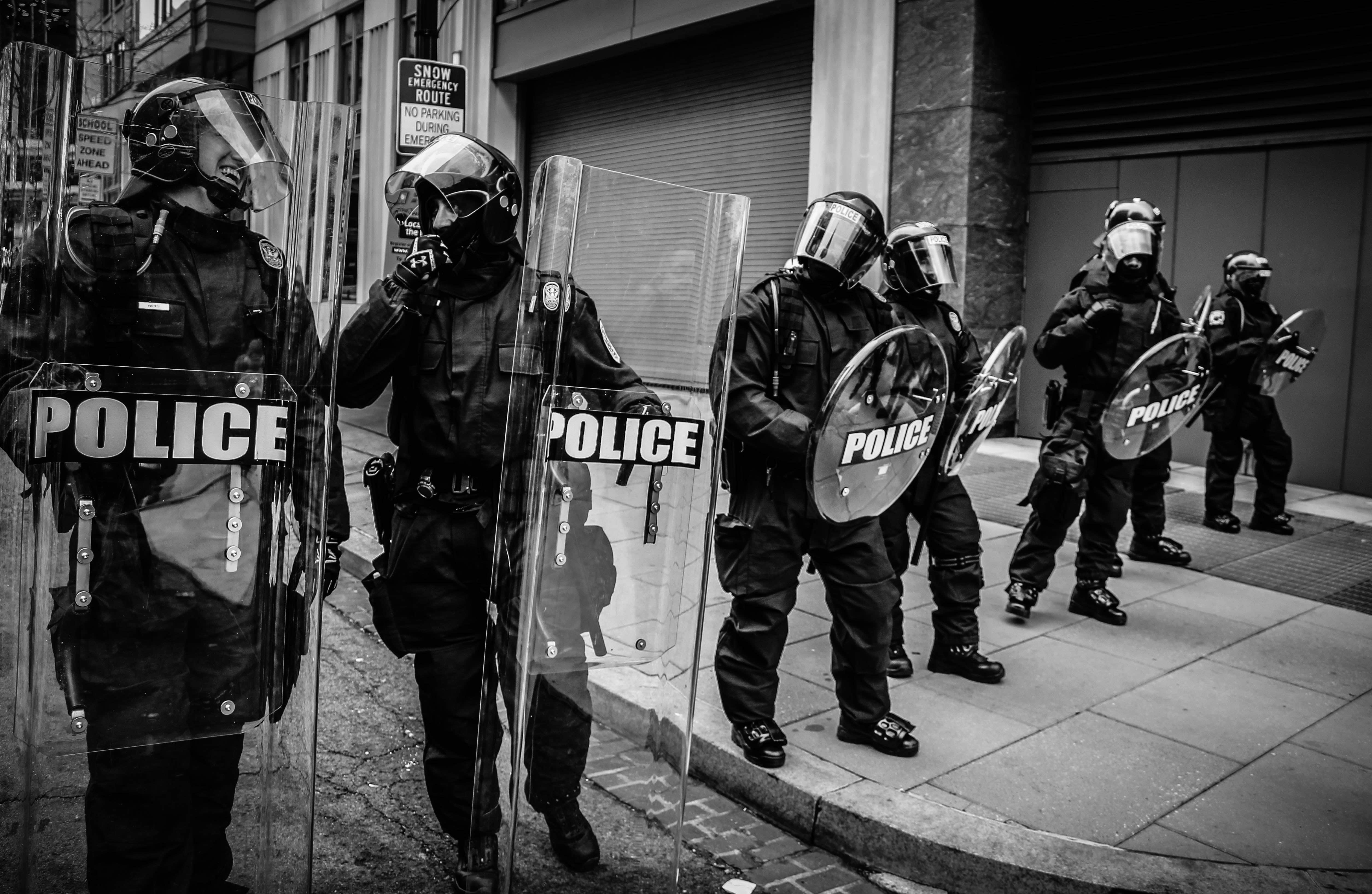 police officers protecting city