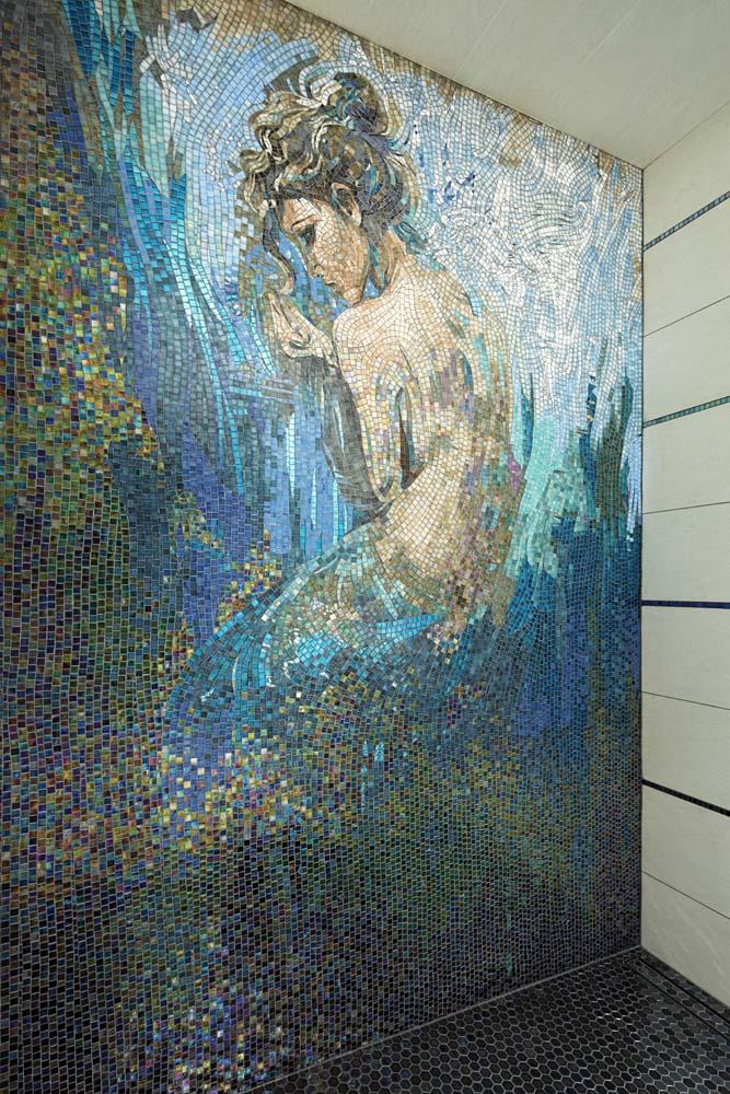 Basal master design bathroom mosaic