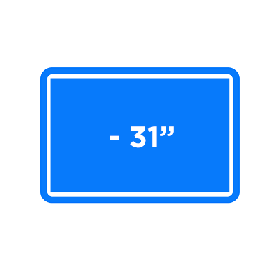 """Up To 31"""" TV Icon"""