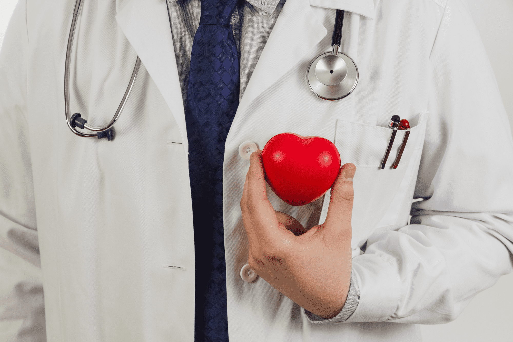 doctor holding a heart object