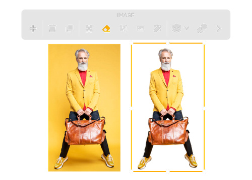 yellow-backgroud-man-holding-a-brown-color-leather-bag