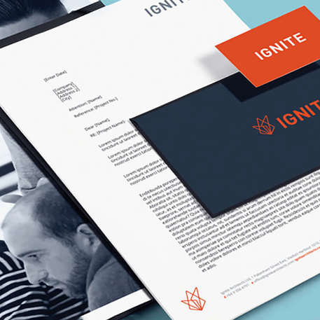 Ignite Brand Identity Project Tile Image
