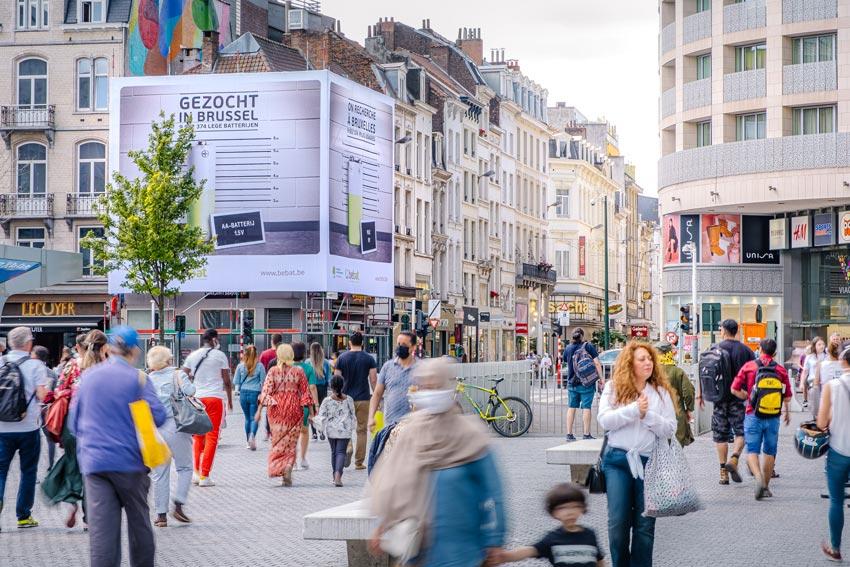 Gezocht campagne in Brussel