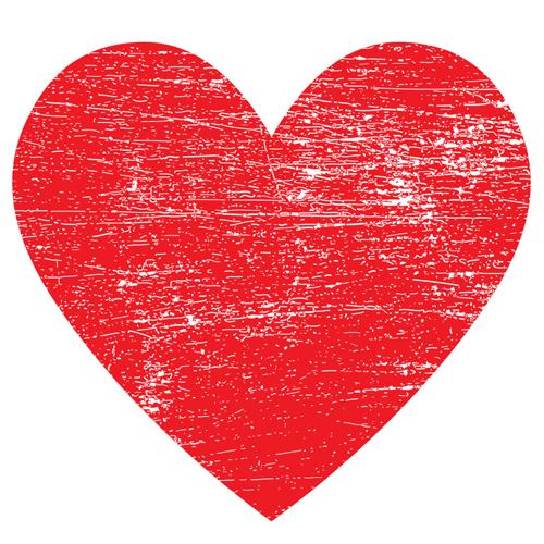 red heart - graphene radiator image