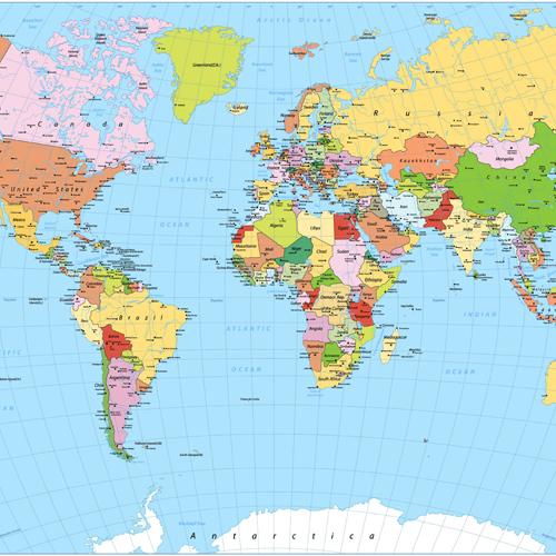 world map - graphene radiator image
