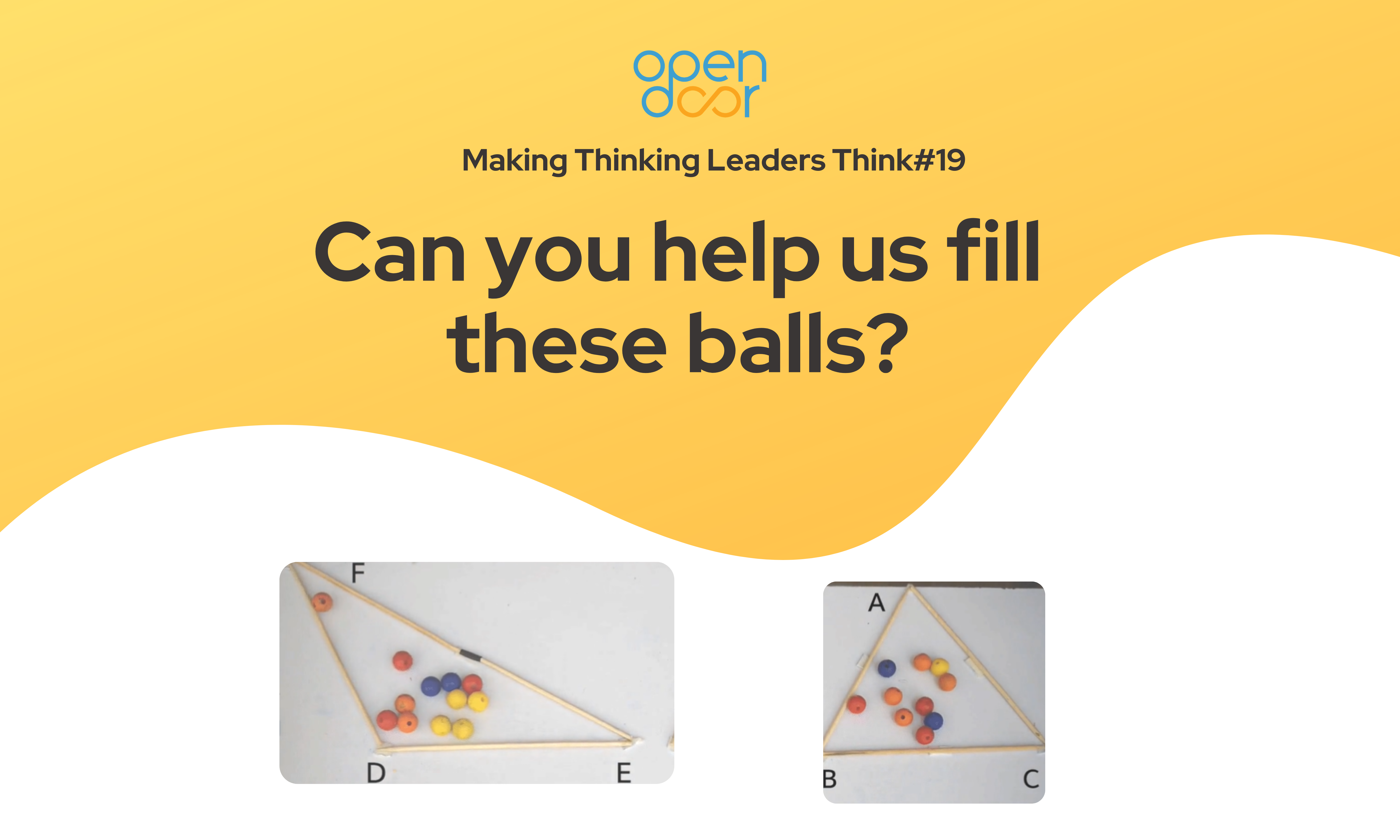 Q#19 Can you help us fill these balls? Winners Announced