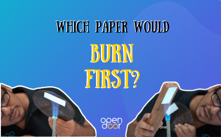 Amazing physics experiment with the burning paper