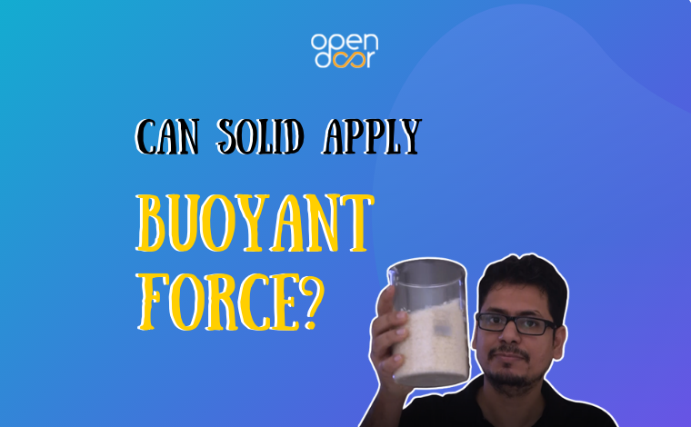 Can solids apply a buoyant force?