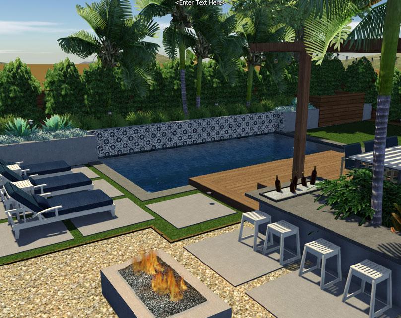 A custom freeform pool
