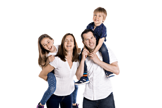 family with a recurring cleaning service