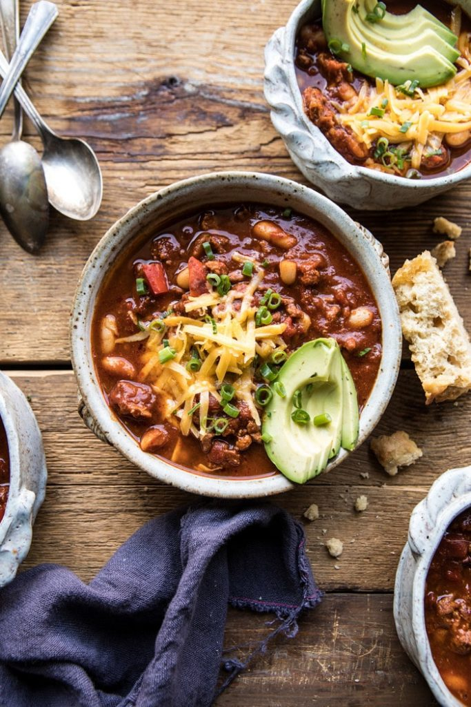 Healthy Slow Cooker Turkey And White Bean Chili