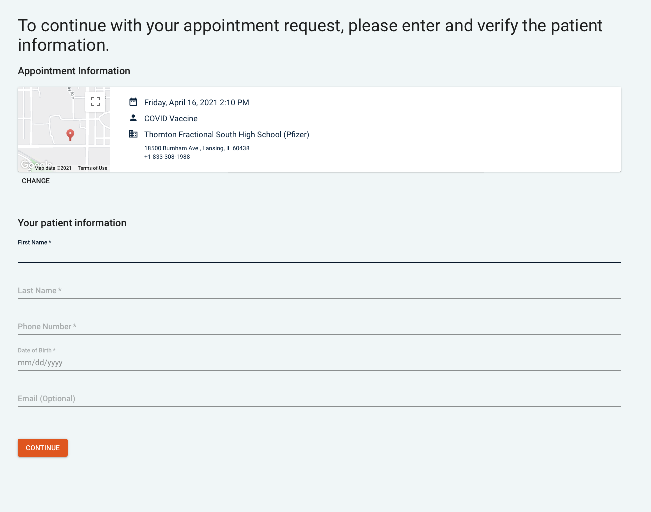 How to Register for the CoVID-19 Vaccine in Chicago appointment 2