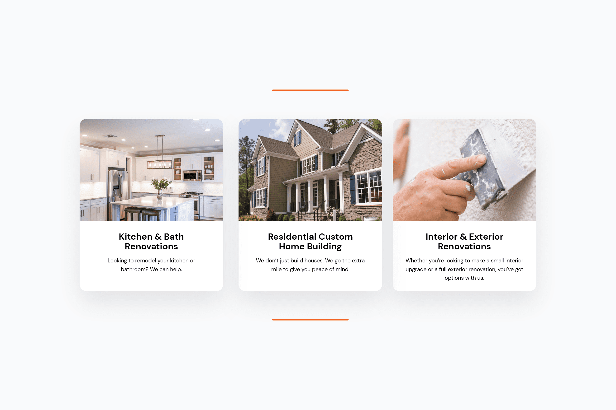 Menard & Robertson specializes in Kitchen & Bath Renovations, Residential Custom Home Building, and Interior & Exterior Renovations.