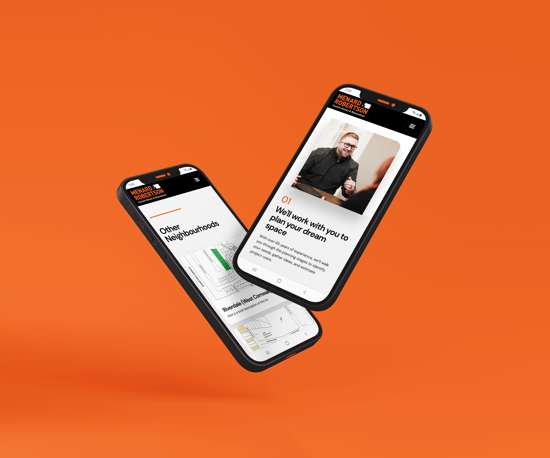 Menard & Robertson Website viewed on Mobile