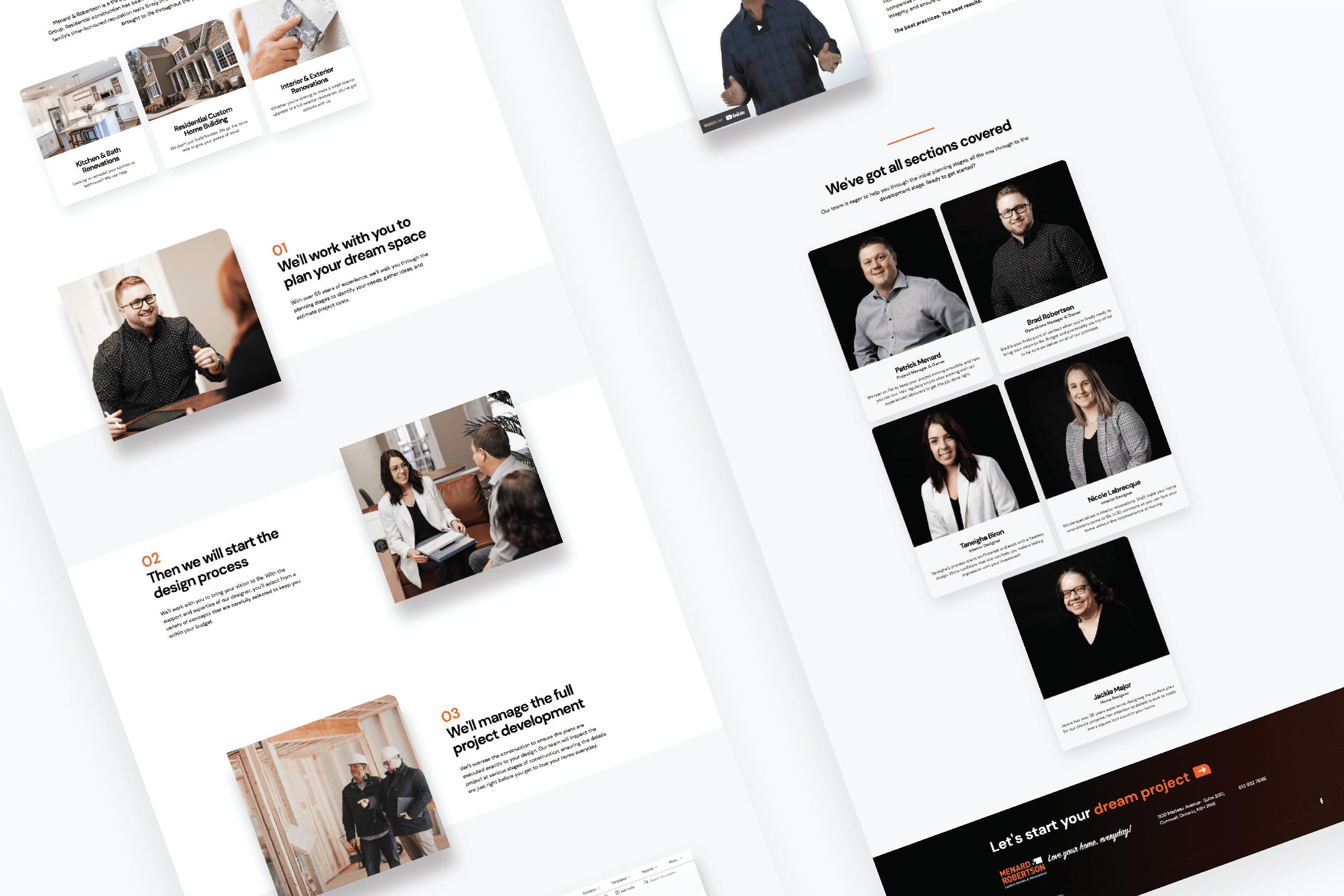 Preview of Menard & Robertson website