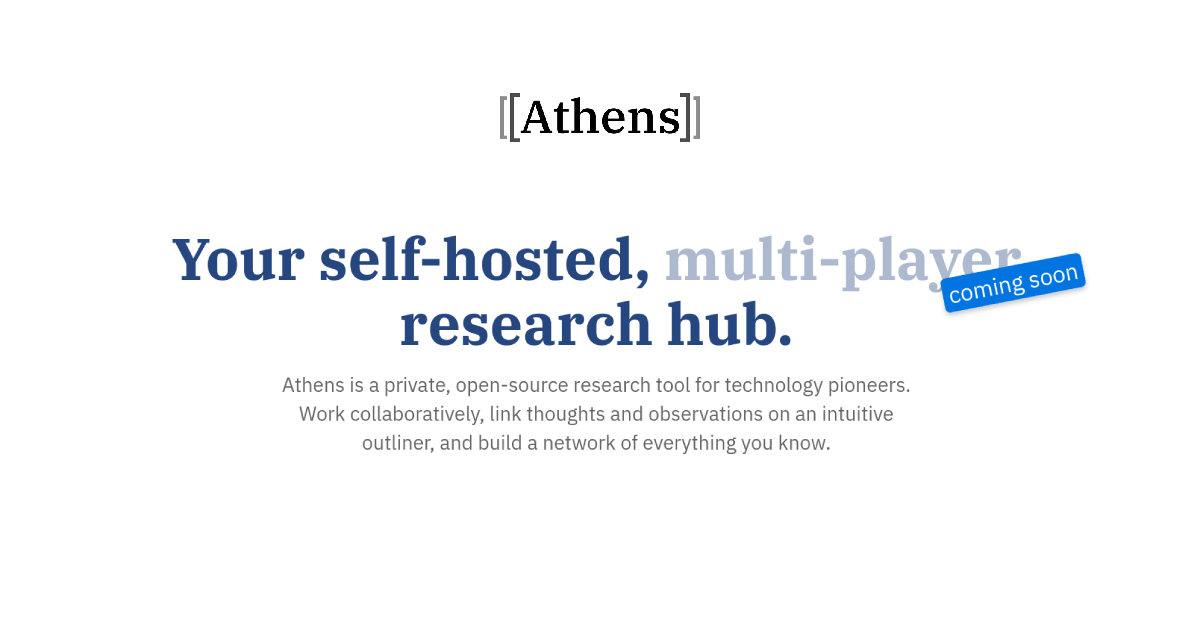 Learn new research workflows, connect with 2,500+people who love learning, and weigh in on the future of self-hosted knowledge graphs. Incredible jo