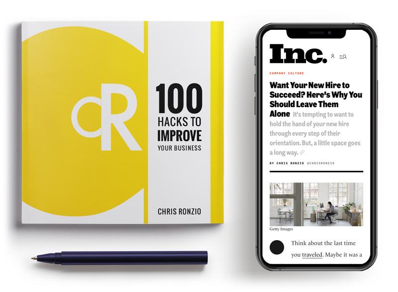 100 Hacks book and Inc. magazine column