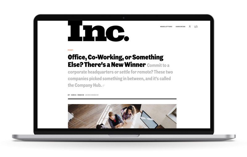 Inc. column on computer
