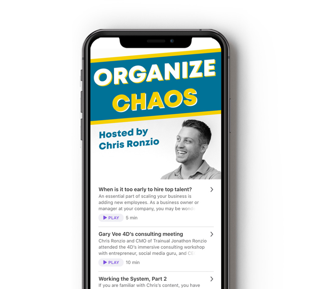 Organize Chaos podcast on phone