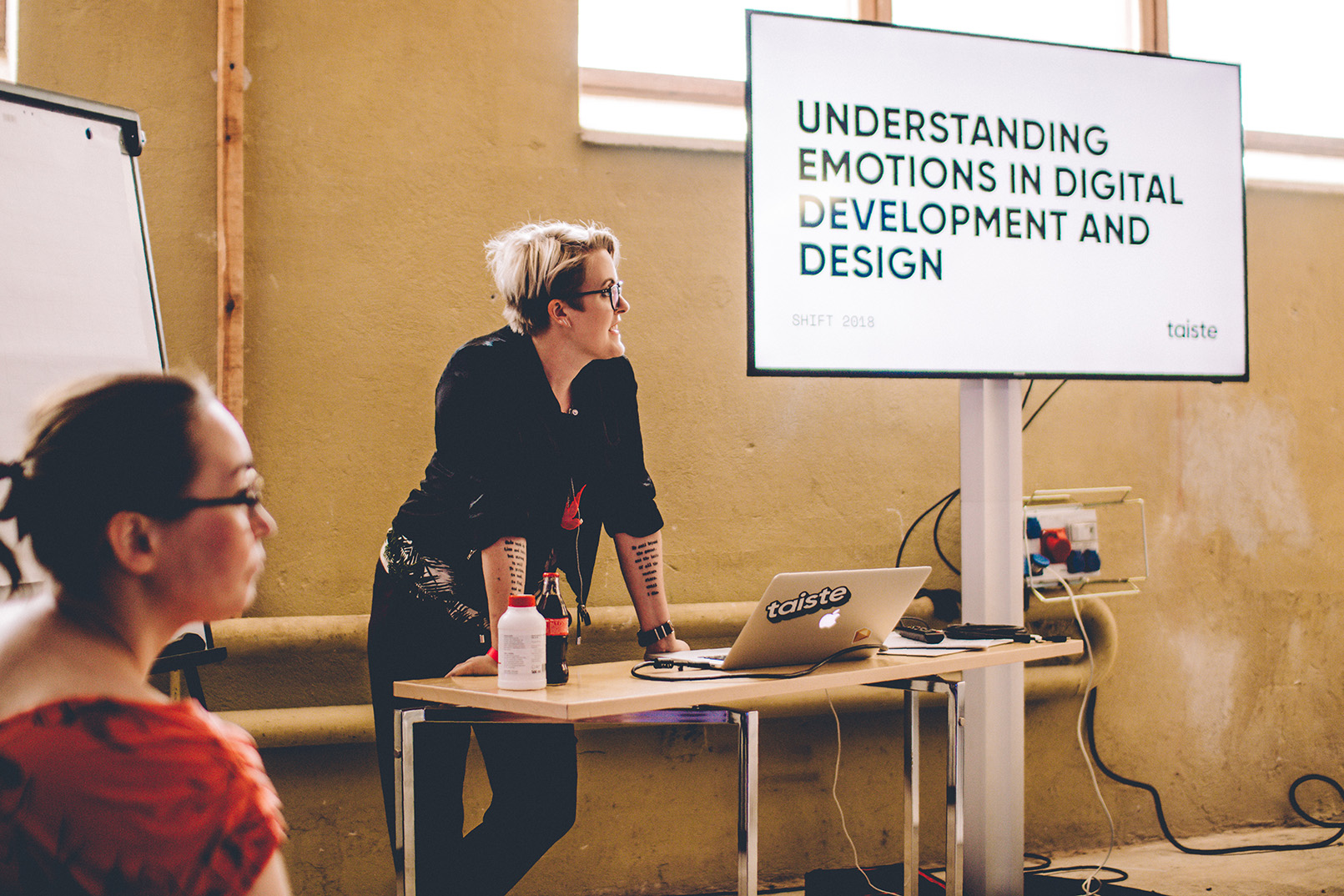 Yours truly and my colleague Tiina presenting at the Shift Business Festival.