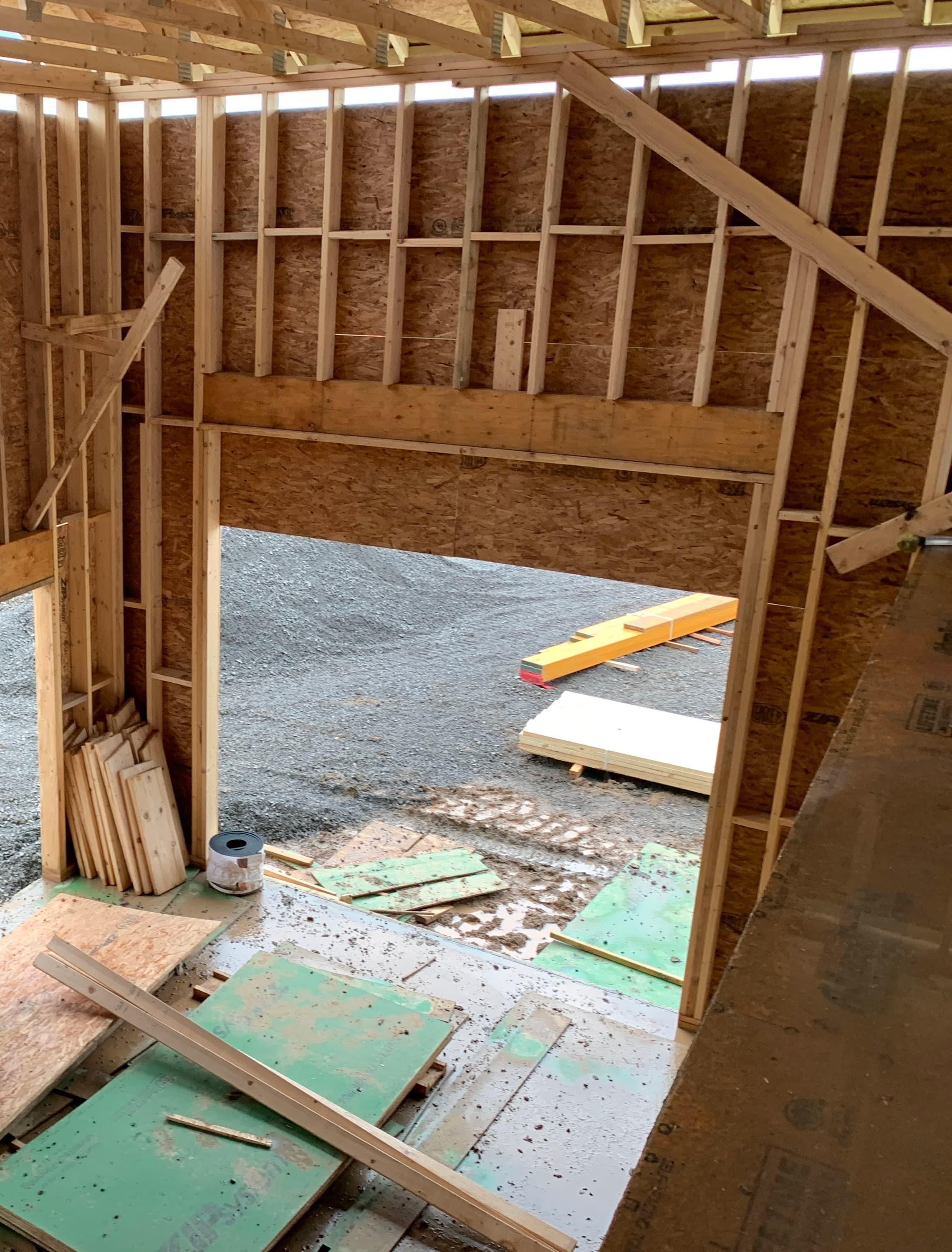 In progress home build
