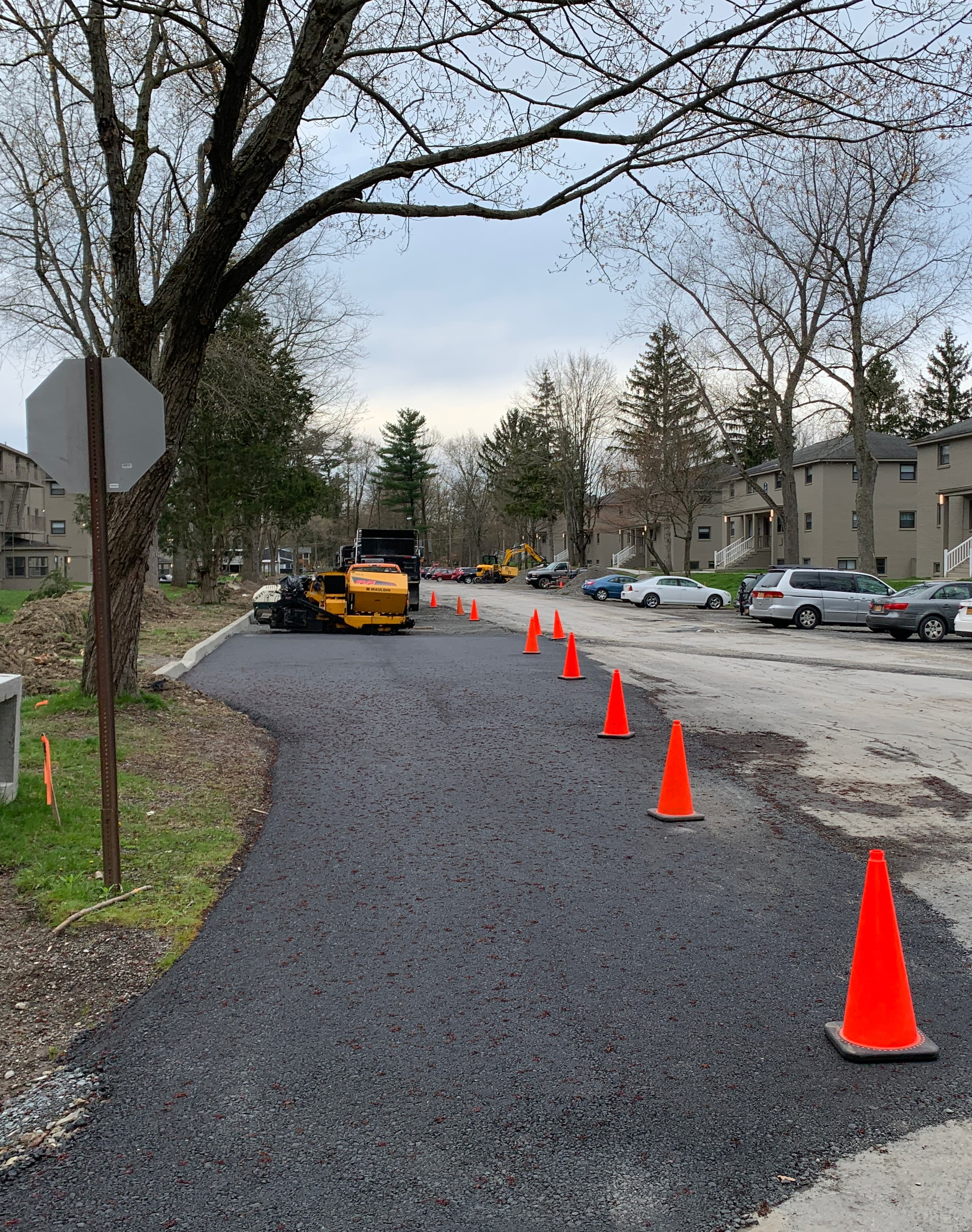 image of road being paved