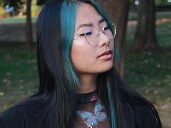 Foto van Jade in het bos