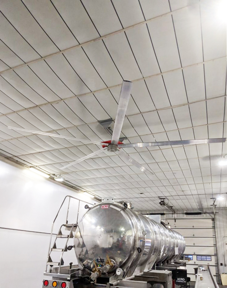 Truck Shop with a big ceiling fan