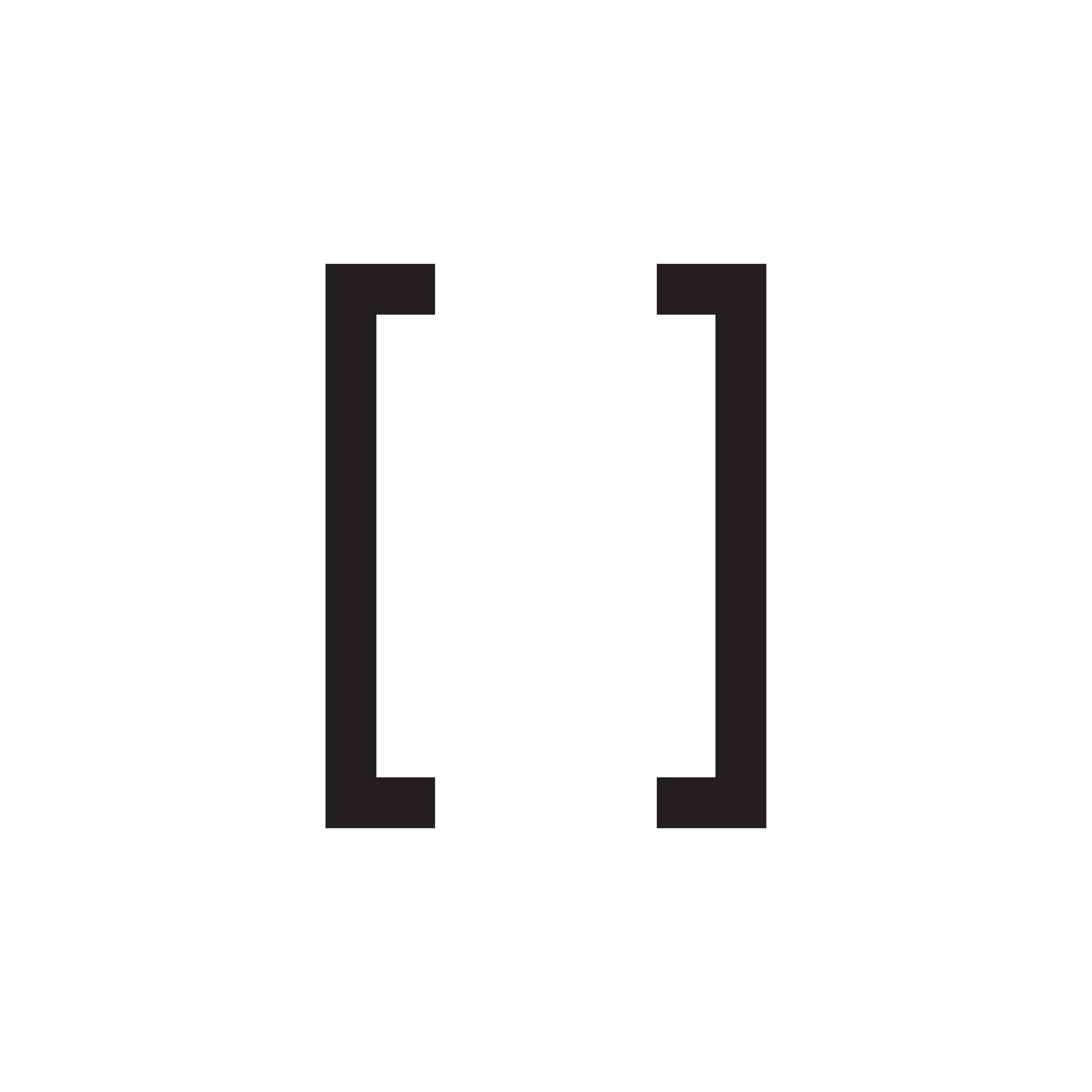 Imago rebranded logo: black brackets.