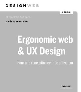 Couverture du livre Ergonomie web et UX Design par Amelie Boucher