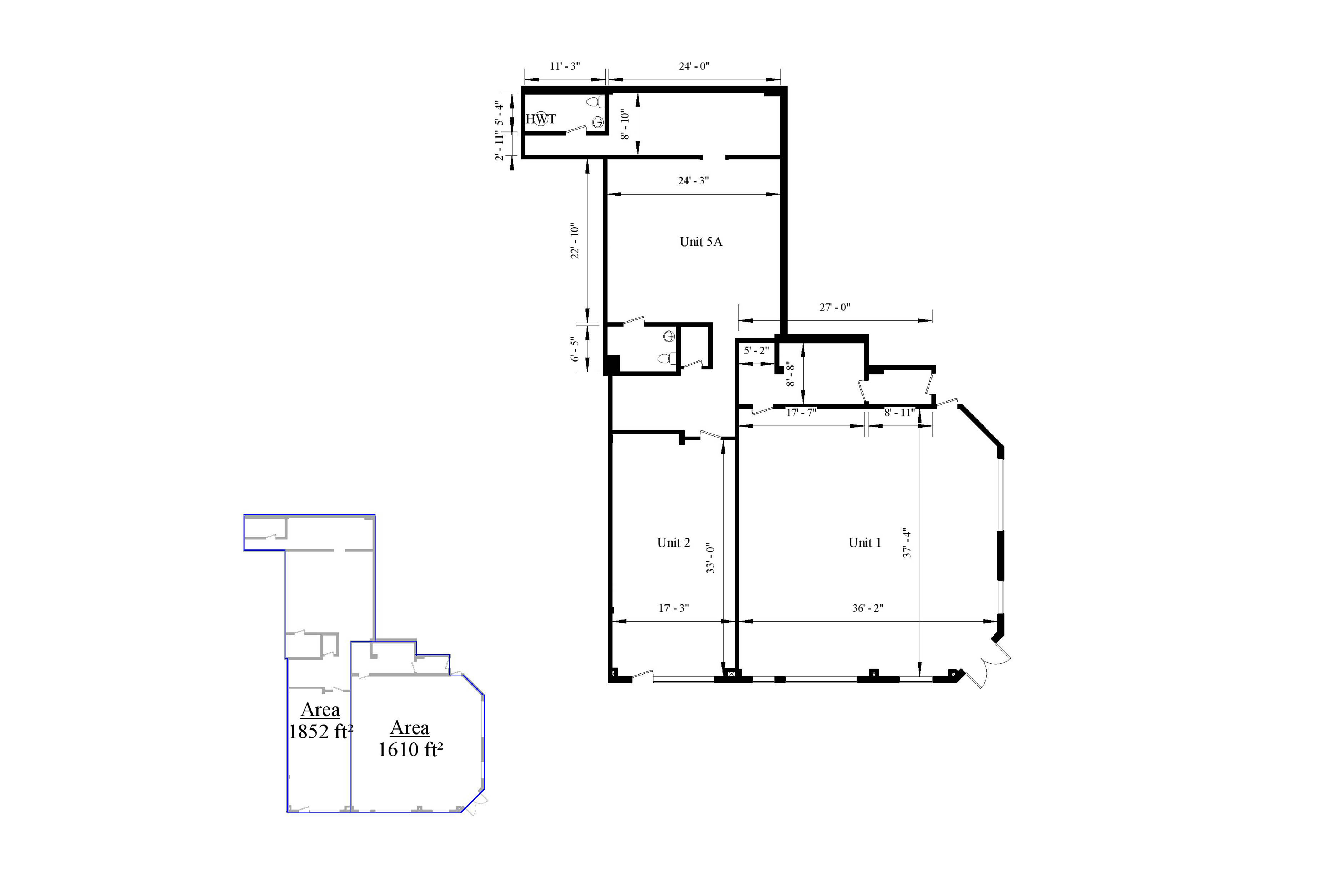 an AutoCad drawing of the floor plan and the Area Analysis plan for a three thousand, four-hundred and sixty-two square foot building.