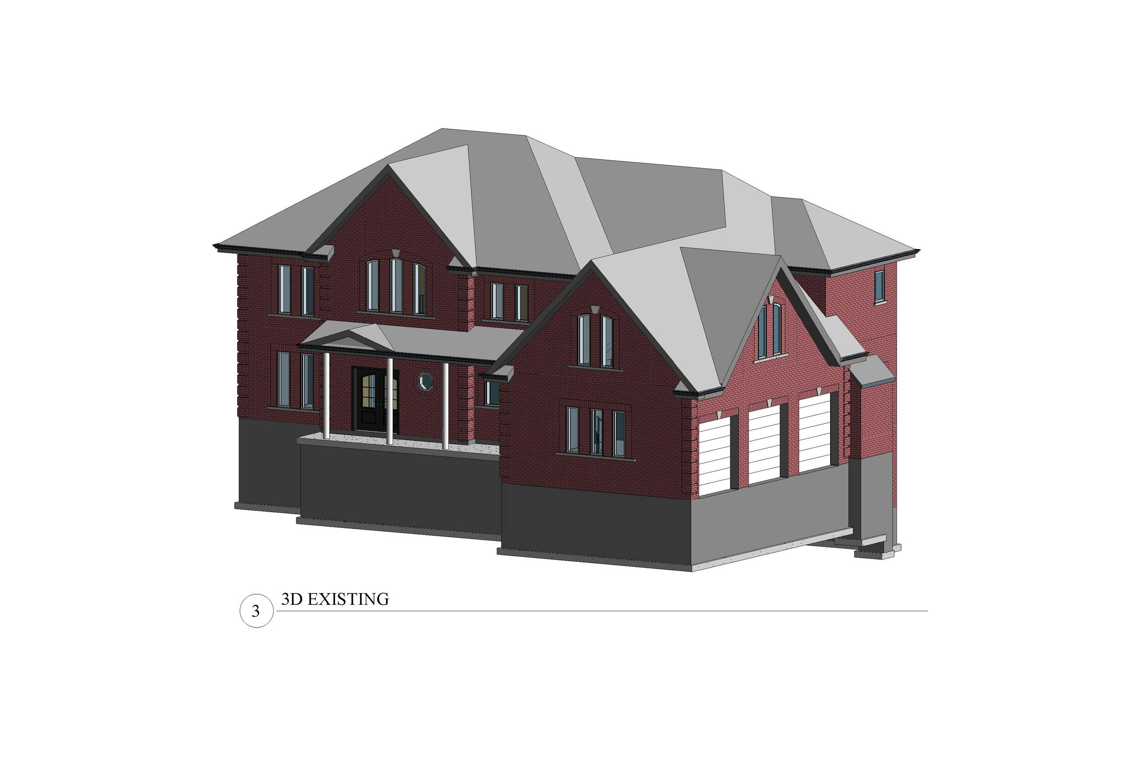 a 3D model of the existing house.