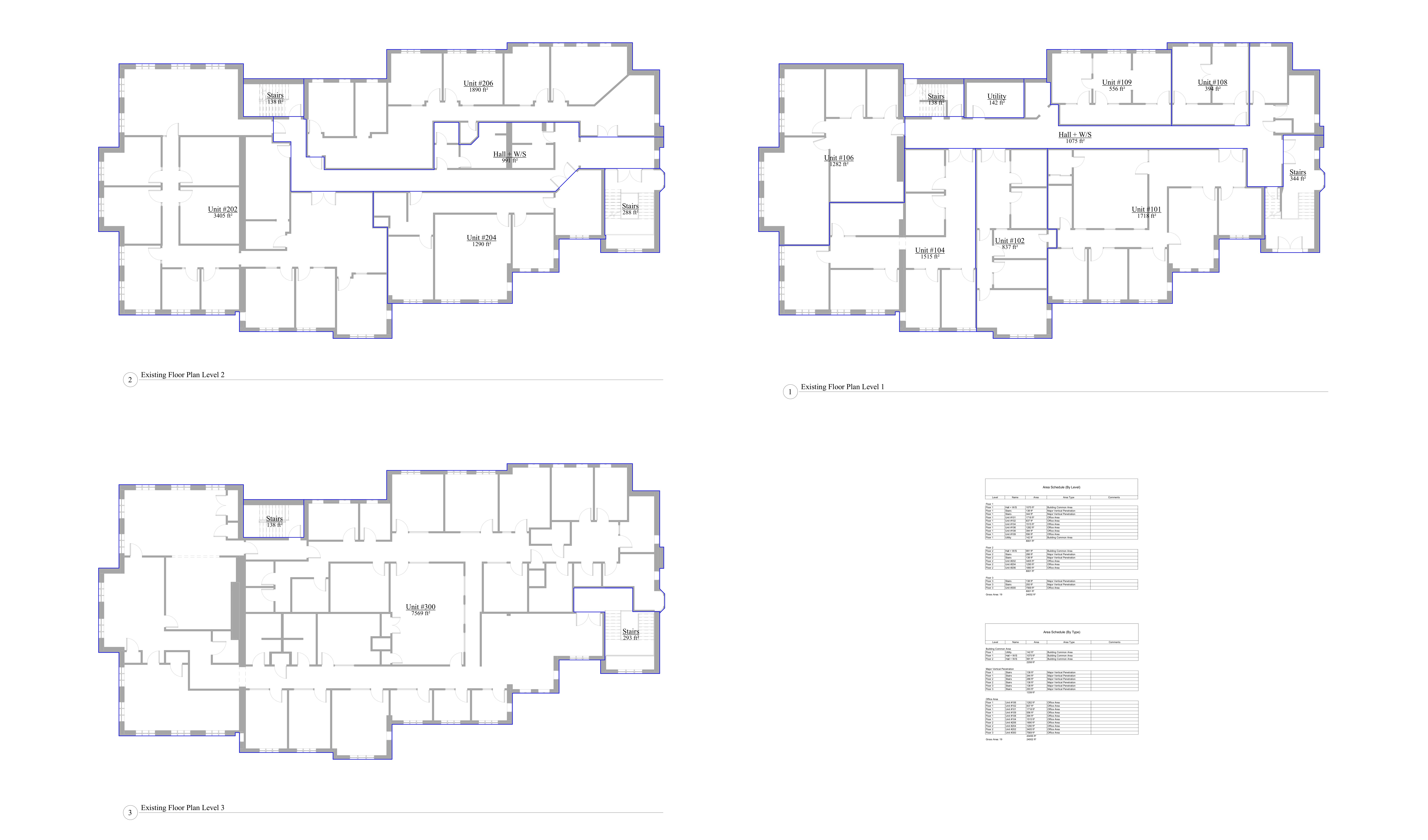 the AutoCad drawings of the accurate floor plans of all the existing units.