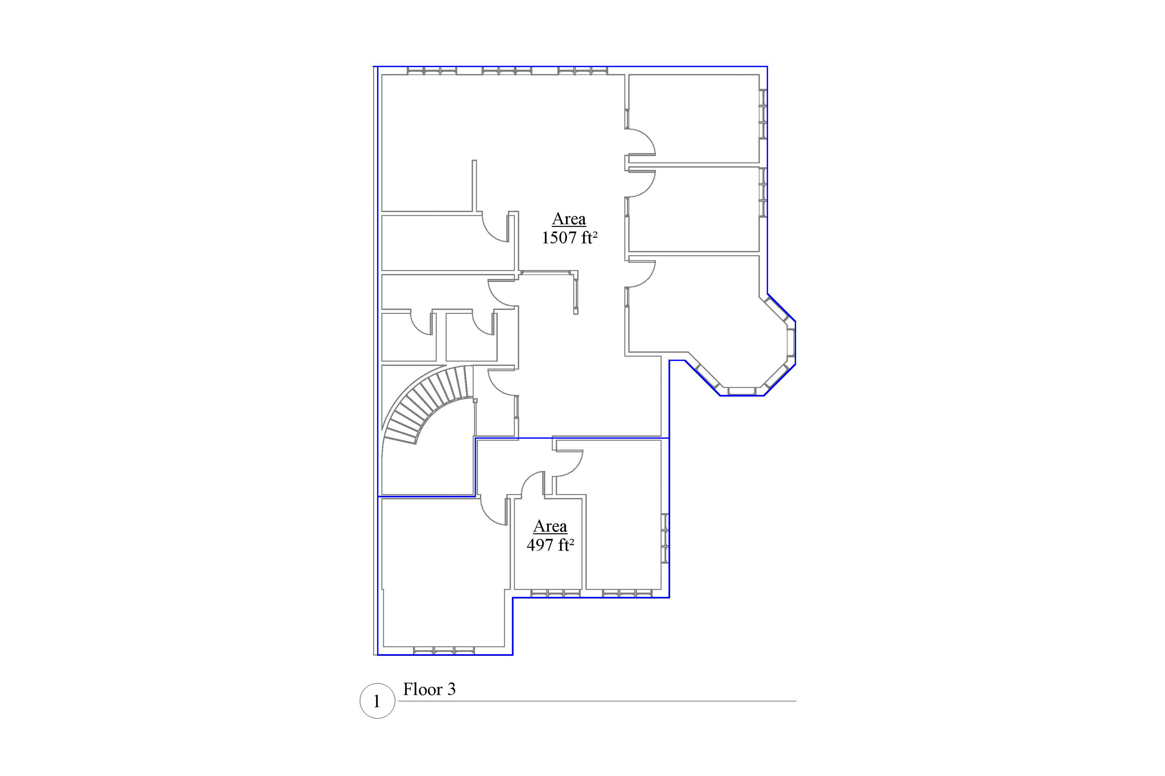 an AutoCad drawing of the Area Analysis plan for a two thousand and four square foot residential house.