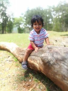 child enjoying the outdoors