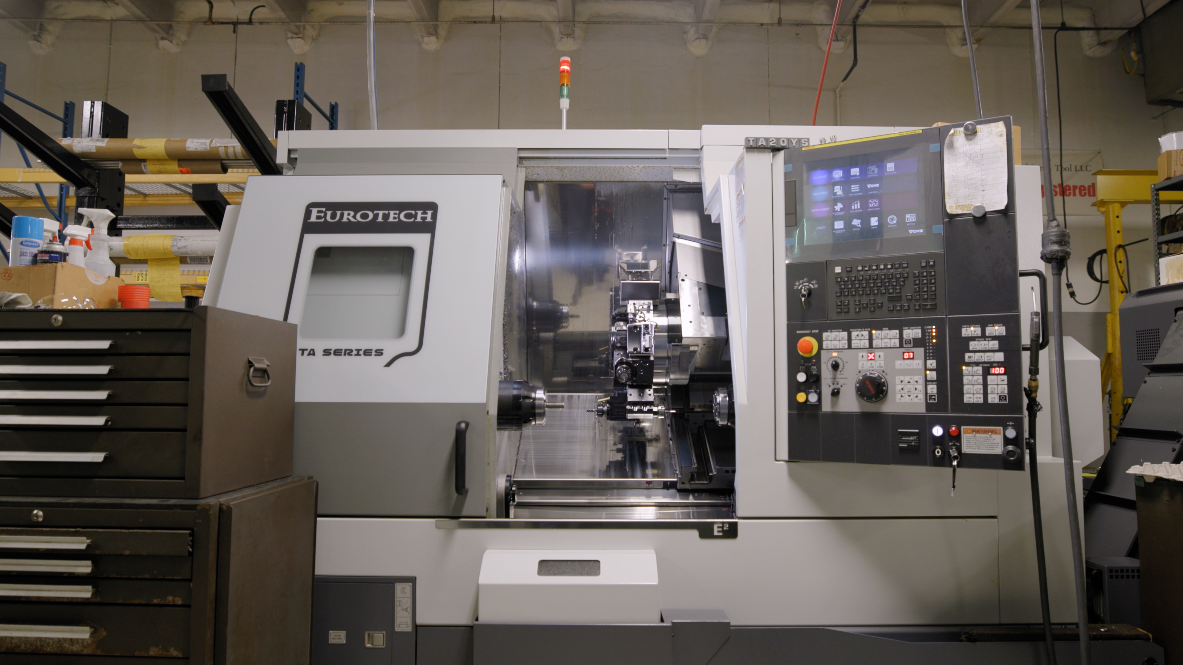 Check out the company's new Eurotech CMZ TA20 which allows for six-axis turning of cylindrical parts.