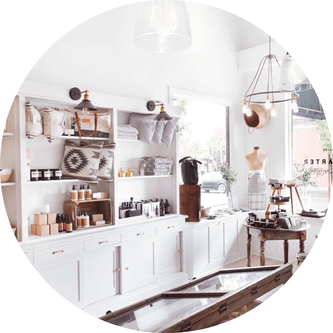 Small business interior