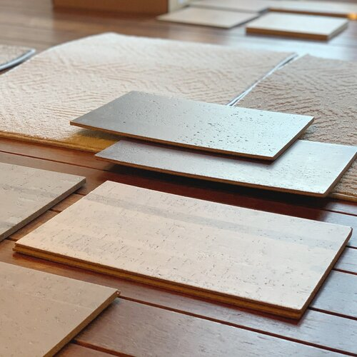 Cork flooring samples — a sustainable and durable flooring option