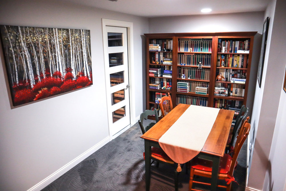Cigar room, sports cave, basement bathroom remodel in Waukee, review.