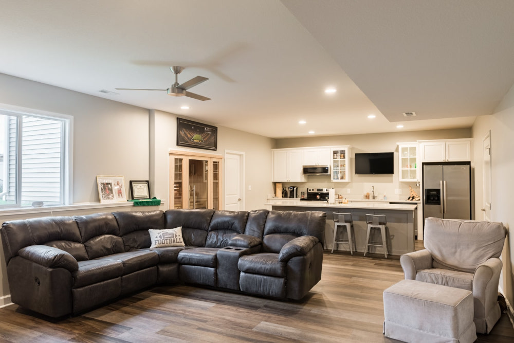 Basement Remodel in Waukee, review.