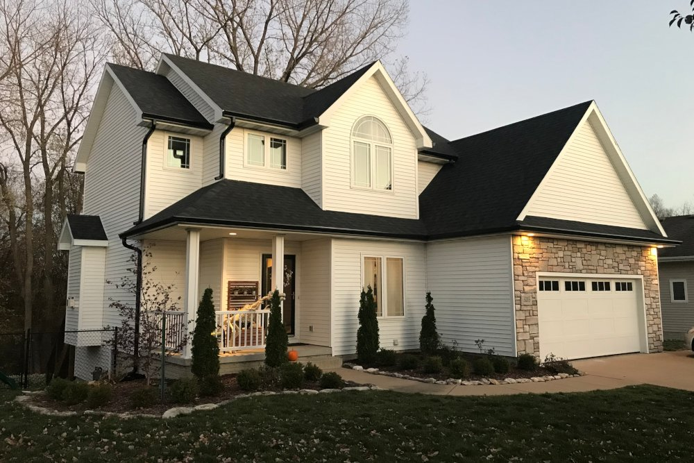 Replaced roof and gutters in Ankeny, Iowa. Review.