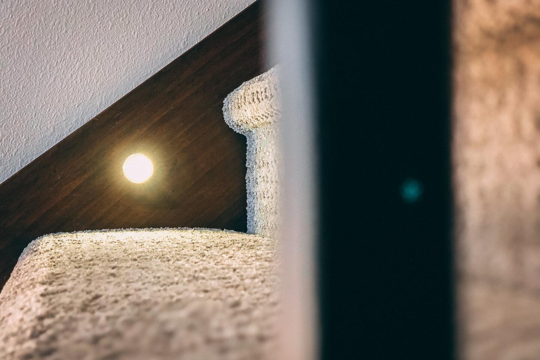 The Eleanor Custom Home - stair with light.