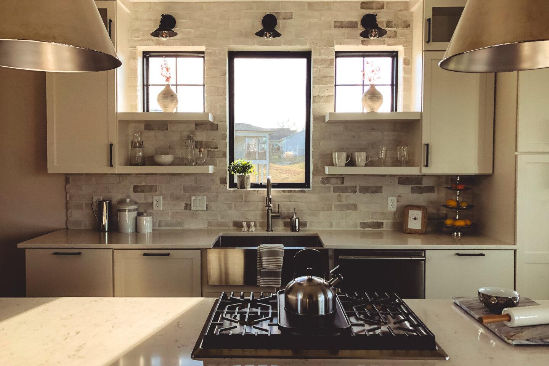 The Eleanor Custom Home - kitchen windows..